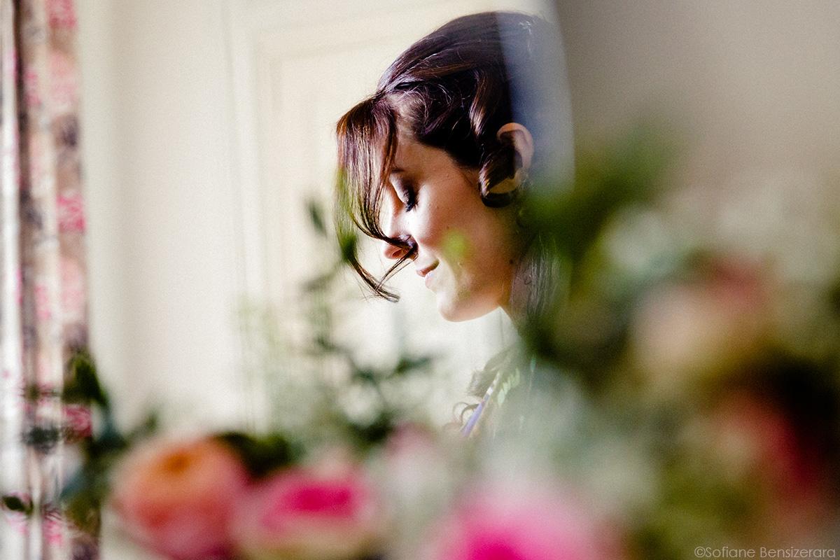 photo fleur portrait mariage