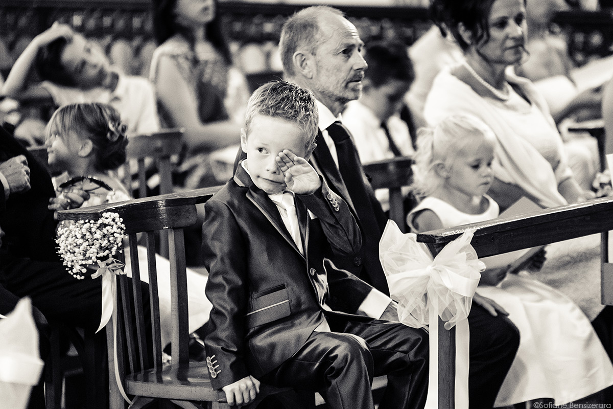 enfant photographe mariage toulouse eglise