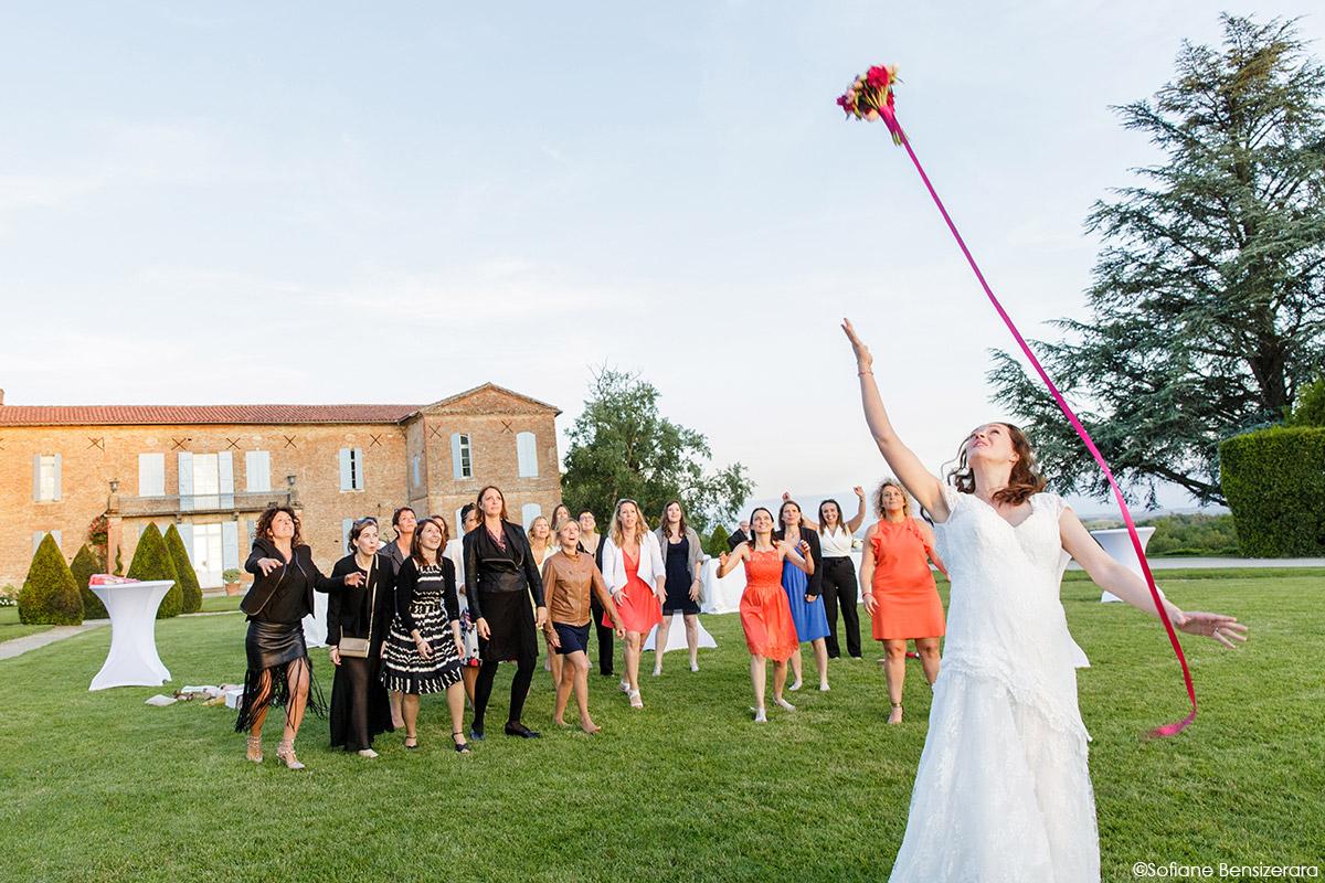 lancer bouquet mariage toulouse