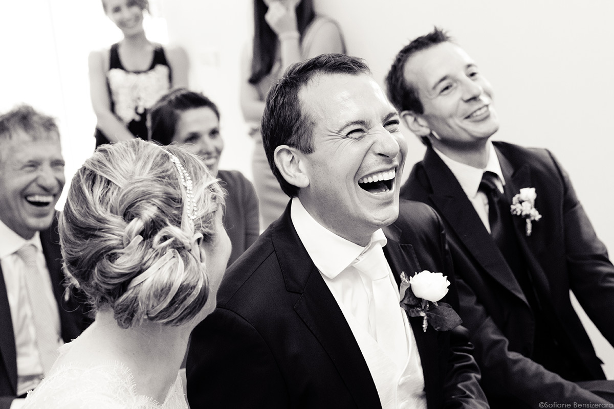 rire mariage ceremonie civile toulouse photo