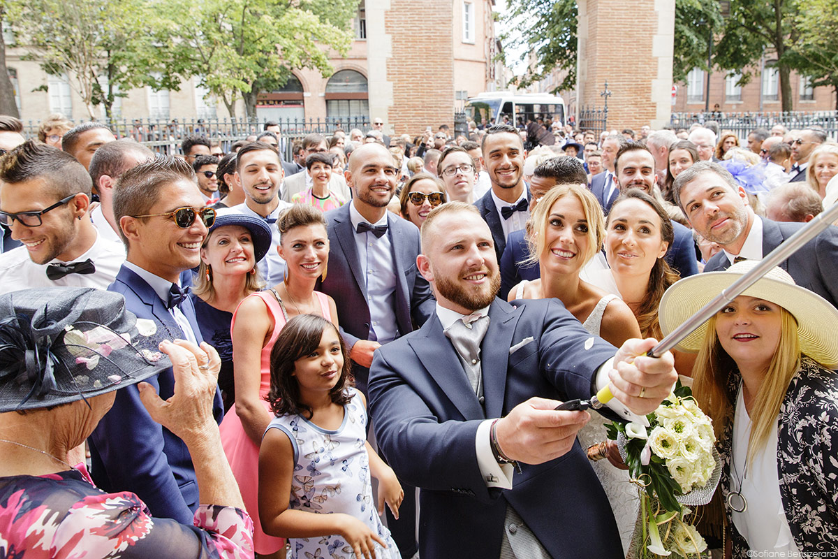 selfie original mariage photo