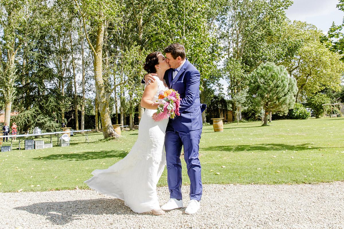 Mariage d'Aurore et Jérôme au Château de Mousens 20 first look wedding idea