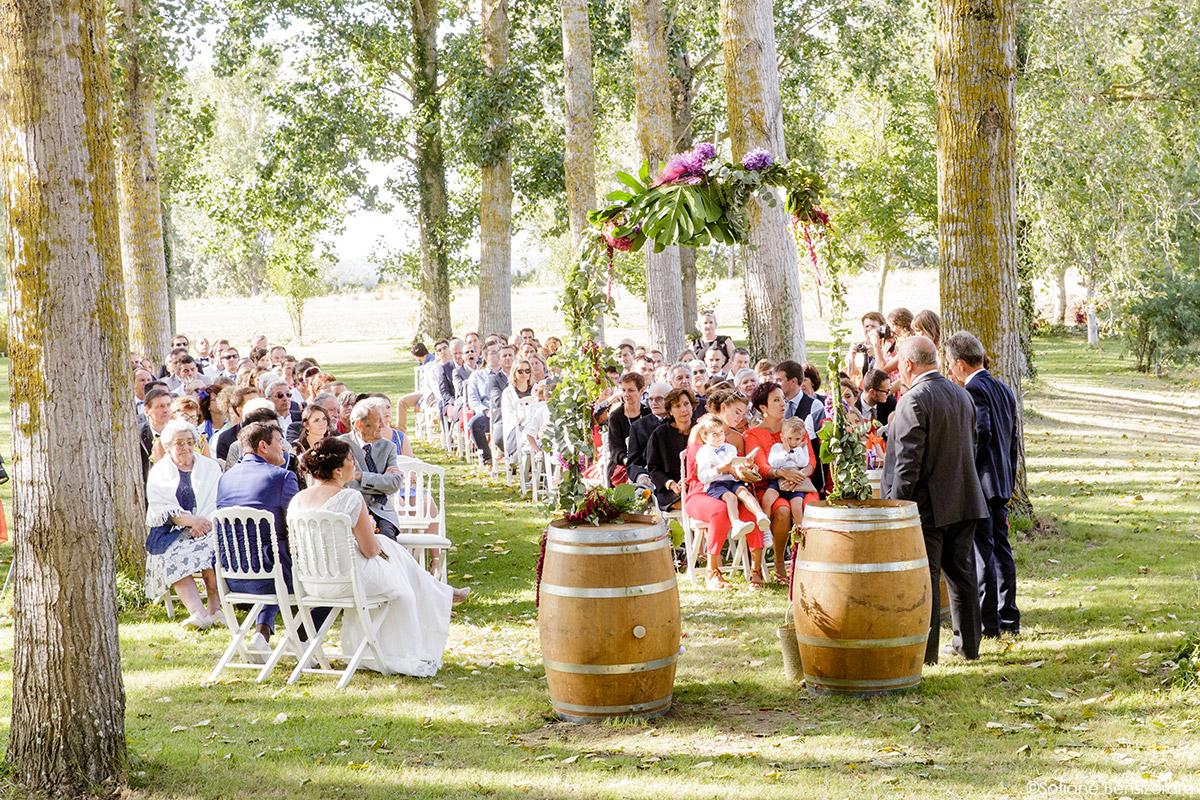 Mariage d'Aurore et Jérôme au Château de Mousens 34 photographe mariage toulouse cérémonie
