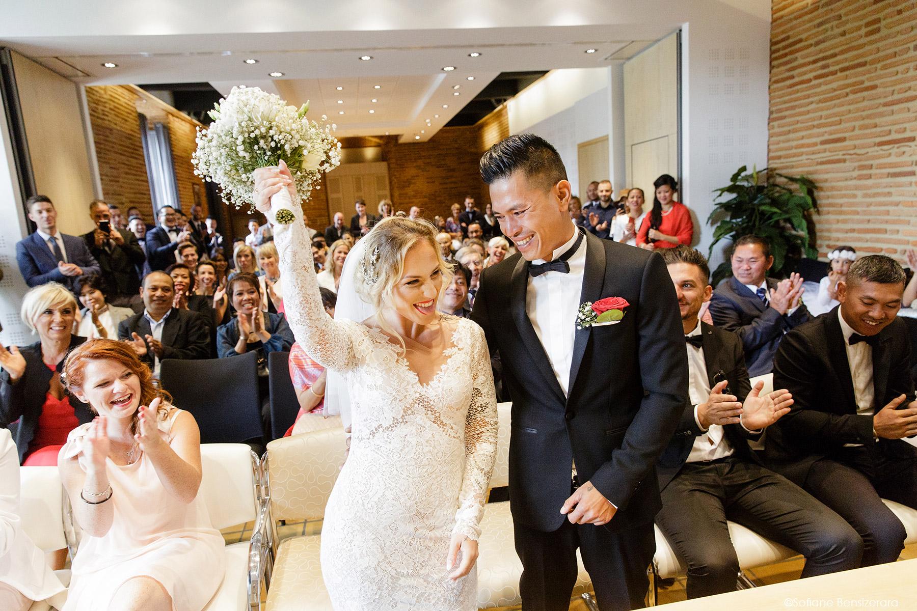 Mariage de Jennifer & Kham à Tournefeuille 13 ceremonie civile mariage toulouse