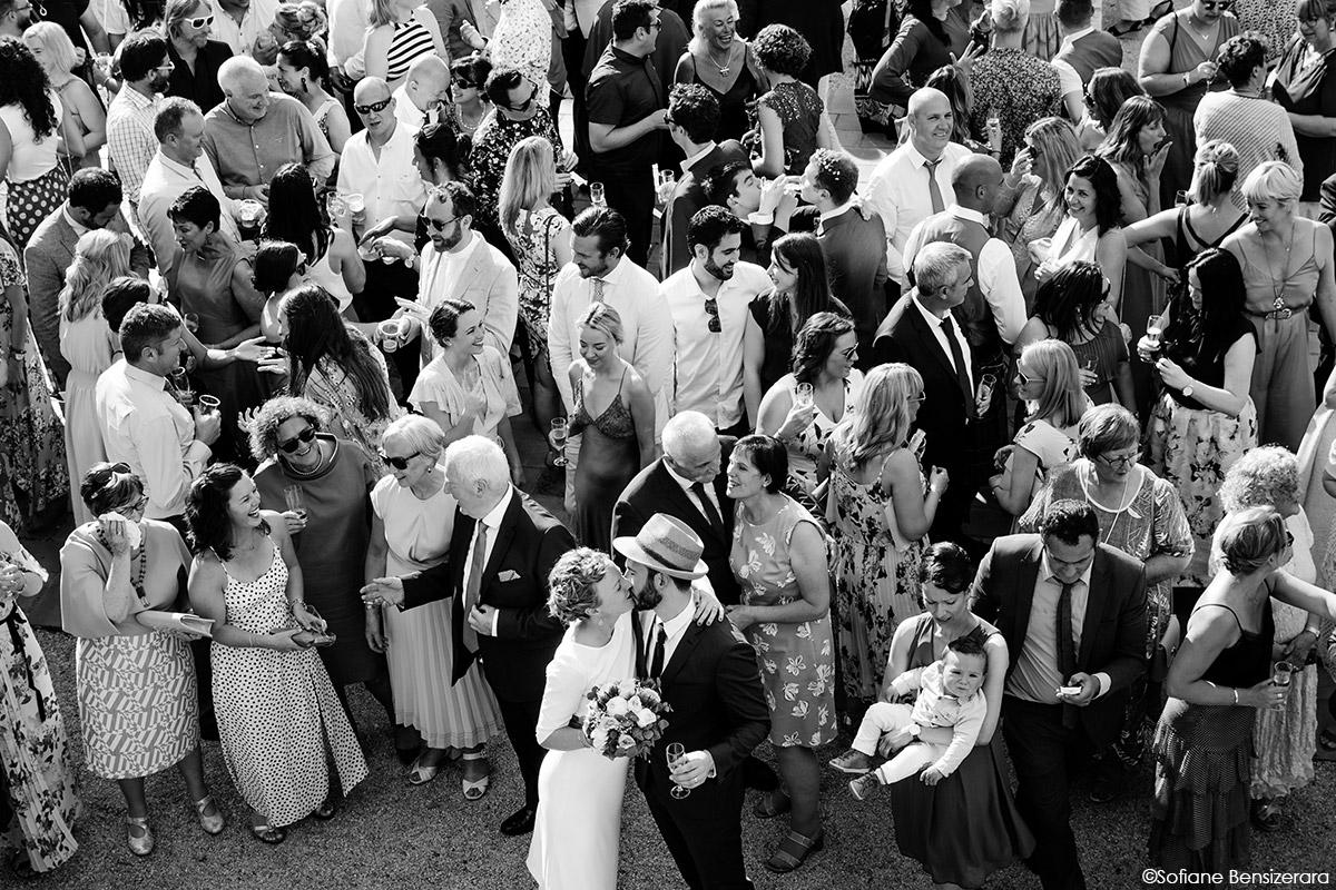 Mariage de Jane & Pierre au Château du Croisillat 66 photo groupe originale croisillat toulouse