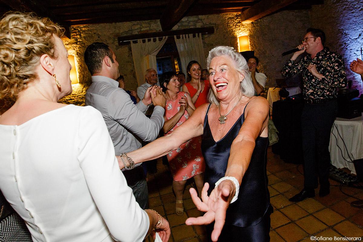 Mariage de Jane & Pierre au Château du Croisillat 85 photo soirée mariage fun