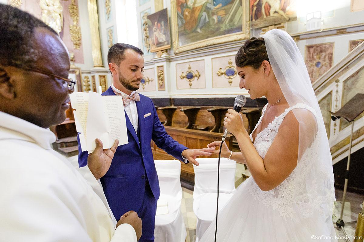 Mariage de Mathilde & Alexandre au Miroir des Lys 37 echange alliance