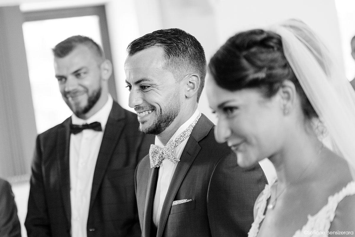 Mariage de Mathilde & Alexandre au Miroir des Lys 28 photo noir et blanc mariage